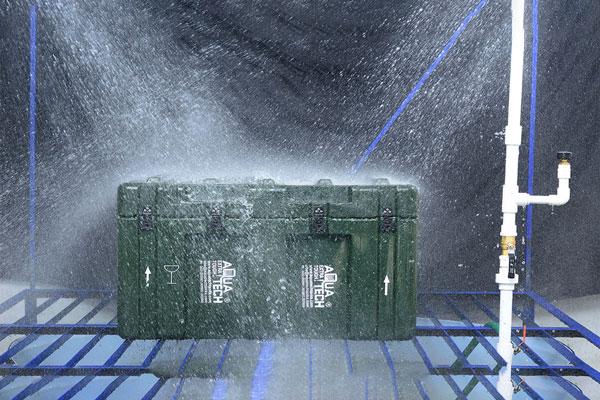 Transit Case Rain Test